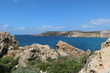 Landscape around Ghajn Tuffieha Bay at the Mediterranean sea in Malta