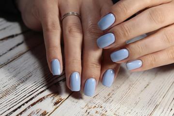 glamorous blue manicure