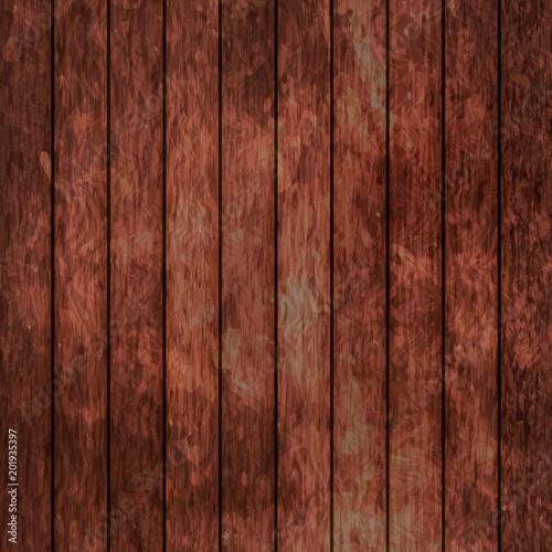 Fototapeta Wood texture background. Dark brown wooden backdrop. Easy to edit vector design template for your artworks. obraz na płótnie