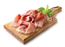 Prosciutto On Wooden Cutting B...
