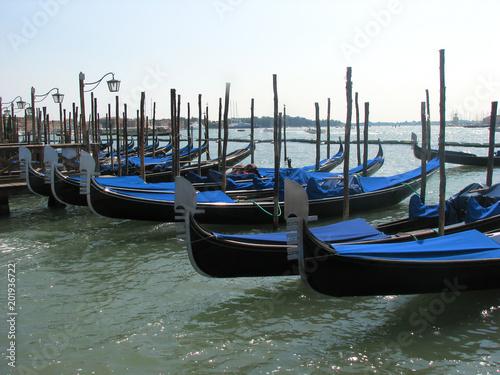 Tuinposter Gondolas Venetian gondolas - Venice - Italy