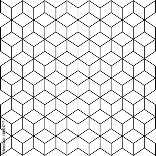 Seamless black and white blockchain technology pattern.Vector ...