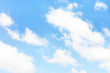 Blue sky with clouds. Beautiful natural background.