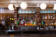 canvas print picture - Image of big bar in night restaurant