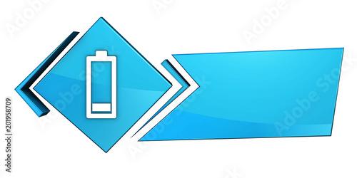 Obraz Niebieski baner 3D - fototapety do salonu