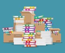Pile Of Paper File. Unorganize...