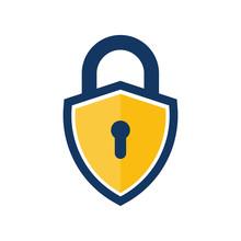 Shield Lock Logo Icon Design