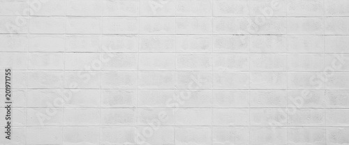 white cement cinder block wall texture - background Poster Mural XXL