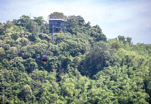 Fotobehang Olijf Travel ,Hat Yai Cable car at Hat Yai park, Songkhla province, Thailan