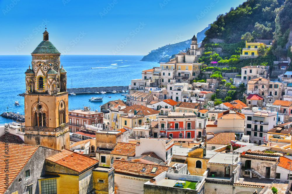 Fototapety, obrazy: Amalfi in the province of Salerno, Campania, Italy