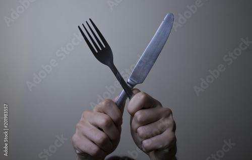 Fényképezés  Cuchillo y tenedor