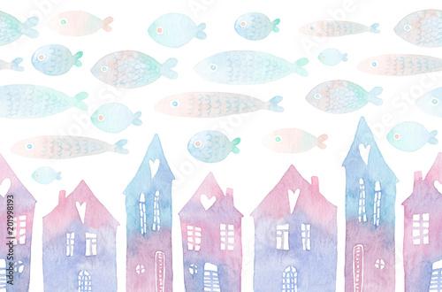 wzor-z-malowanymi-domami