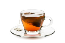 Tea In Glass Cup With Tea Bag ...