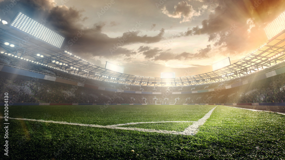 Fototapety, obrazy: Sport Backgrounds. Soccer stadium.