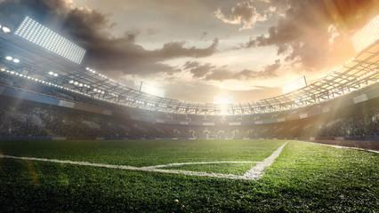 Fototapeta Sport Backgrounds. Soccer stadium.