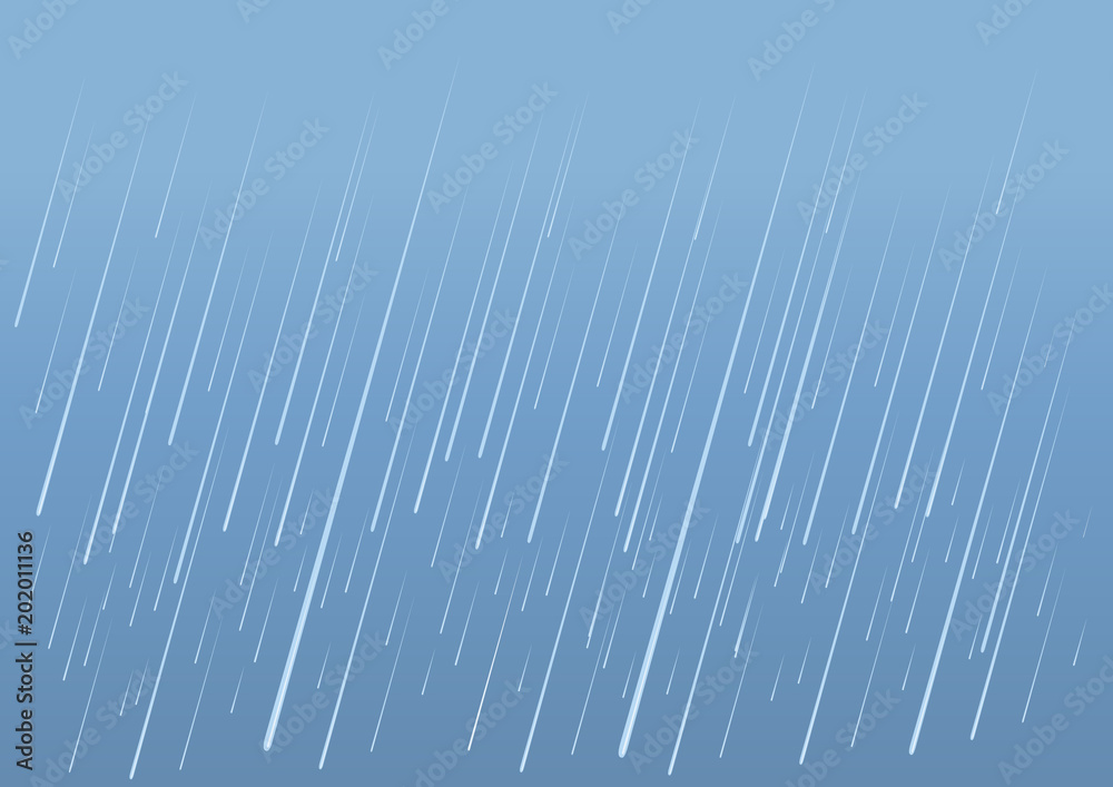 Fototapety, obrazy: Rain drops background.Vector image of wet day