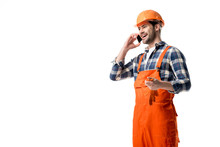 Handyman In Orange Overall And...