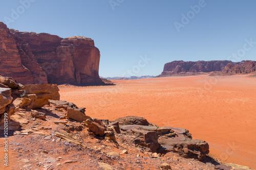 Deurstickers Koraal Wadi Rum desert landscape,Jordan