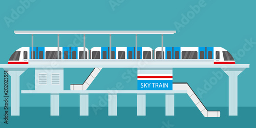 Obraz na plátně  Subway or skytrain station,city metro