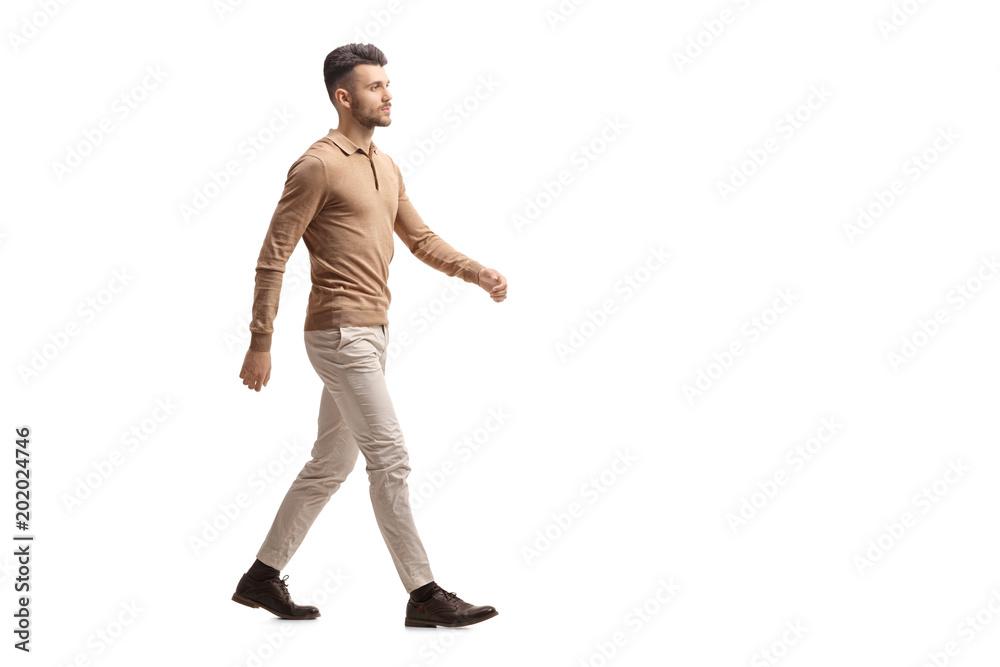 Fototapety, obrazy: Young man walking