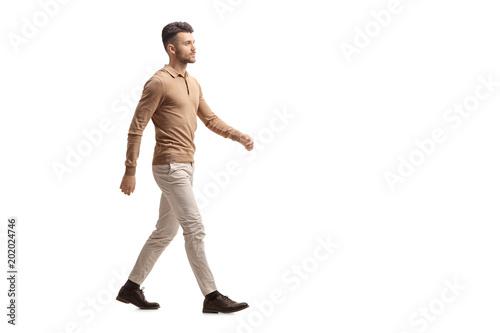 Young man walking