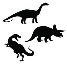 Triceratops, Brontosaurus And ...