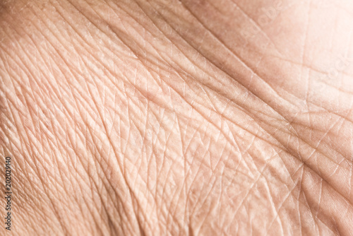 Foto Close up skin texture with wrinkles on body human