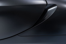 Abstract Of Dark Silver Car Do...