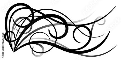Fotografering  Ornement Abstrait Noir Gris v3