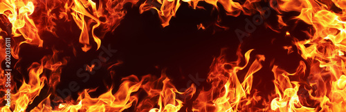 Poster Fire / Flame Fire Flames Background