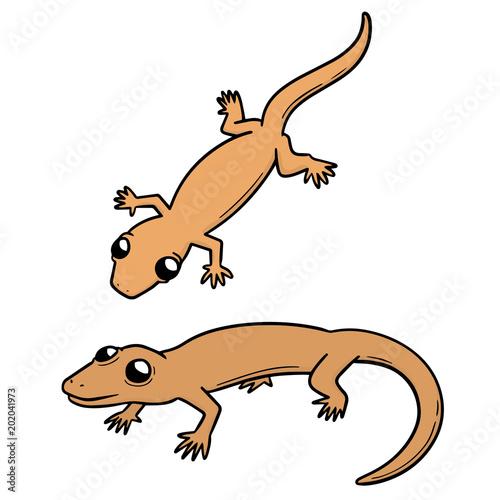 Fototapeta vector set of lizards