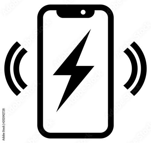 Obraz na płótnie Phone wireless charging icon