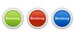 rundes Button Set grün rot blau - Beratung