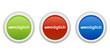 rundes Button Set grün rot blau - un/möglich