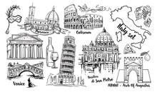 Italy Landmark Vector Sketch S...