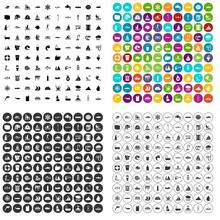 100 Aquaculture Icons Set Vect...