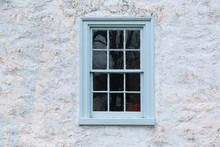 Old Blue Window On Barn