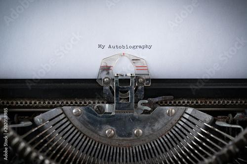 Photo Autobiography Typed on Typewriter