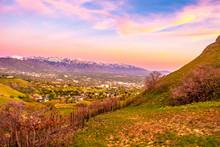 Beautiful Sunset In Salt Lake City, Utah