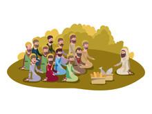 Jesuschrist With Apostles Mult...
