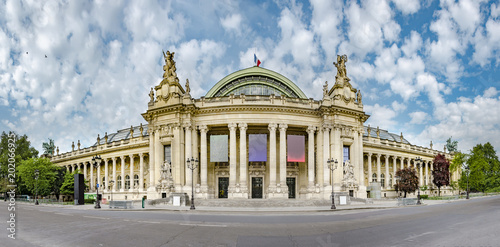 Fototapeta Panoramic view of Grand Palais (Great Palace) in Paris, France