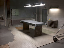 Slab Bench With Overhead Light...