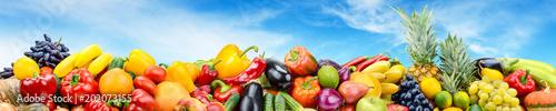 Panorama vegetables and fru...