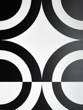 Black And White Circle Pattern...