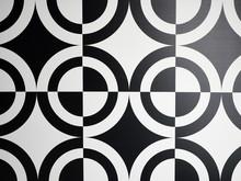 Black And White Circle Pattern Full Frame