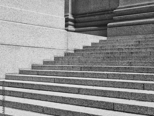 Stone steps outside office building