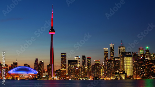 Downtown Toronto, Canada city center at sunset Wallpaper Mural