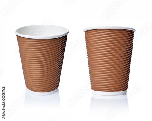 Take-out blank craft paper coffee brown cups