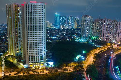 Fotografie, Obraz  Blurred bokeh night life cityscape for club venue and urban city life