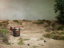 Old Rusty Oil Barrels